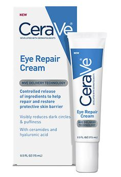 CeraVe Eye Repair Cream reduces the look of dark circles and puffiness as ceramides help repair and restore Dark Circle Cream, Eye Cream For Dark Circles, Reduce Dark Circles, Dark Circles Around Eyes, Pole Dancing, Best Drugstore Eye Cream, Diy Masque, Porto Rico, Products