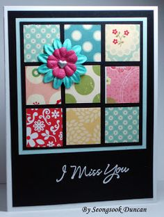 One Sheet Wonder 12x12 Variations {more designs}  ~can totally use scraps, too!~