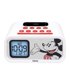 Look at this Mickey Mouse Alarm Clock Speaker System on #zulily today!
