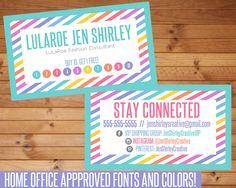LuLaRoe Business Cards, LuLaRoe Home Office Approved, LuLaRoe Branding, Business Cards, LuLaRoe Rainbow Cards, LuLaRoe Marketing, LuLaRoe by jenshirleycreative on Etsy