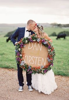 Kirsten & Dan's wedding at Byron View Farm as featured in Hello May. Catered by The Fig Tree, conducted by Chiquita Mitchell (Celebrant) and coordinated by Byron Bay Weddings. Beautiful x