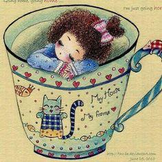 Se hai molto, dona un po' delle tue ricchezze; se hai poco, dona un po' del tuo… Tea Cup Art, Coffee Cup Art, Manga Illustration, Graphic Illustration, Pause Café, Alice In Wonderland Tea Party, Cafe Art, Tea Cozy, Art For Kids