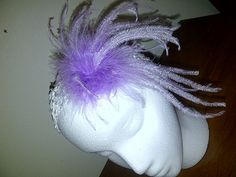 light purple feather headband for any age by ladybugladyjjjsalon, $15.90