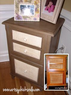 """A Collection of """"Before & After"""" Furniture Pieces / artsychicksrule.com This one is painted in Annie Sloan - Cocoa?"""