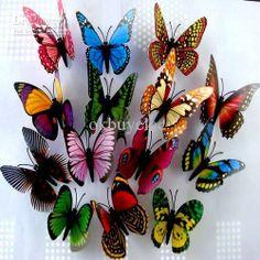 Wholesale Fridge Magnets - Buy 3D Simulation Butterfly Fridge Magnets Refrigerator Magnet Sticker Home Decor, $0.14 | DHgate