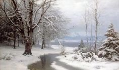 Anders Anderson-Lundby - A Wooded Winter Landscape - Fine Art Print