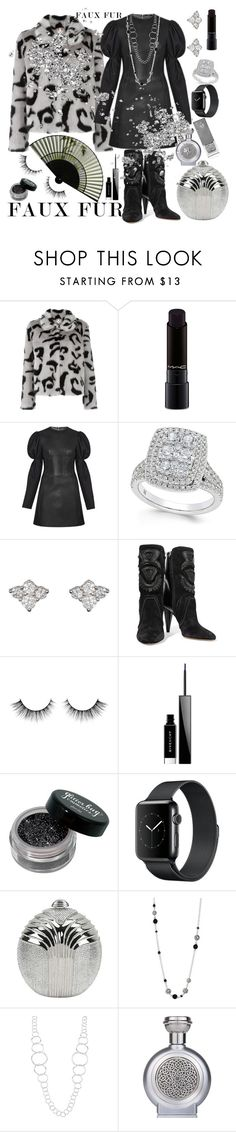 """""""FAUX FUR 🍷"""" by seanahr ❤ liked on Polyvore featuring Shrimps, MAC Cosmetics, Sara Weinstock, Isabel Marant, Givenchy, Judith Leiber, John Hardy, Ippolita, Boadicea the Victorious and Burberry"""