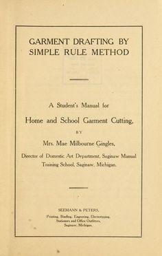 Garment drafting by simple rule method;