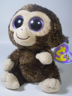 "Ty Beanie Boos Brown Baby Monkey Coconuts Stuffed Bean Chimp Plush Animal 6"" Toy #Ty"