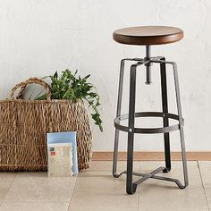 Industrial Stool #westelm
