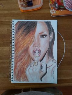 I made this drawing of rihanna do you like it?
