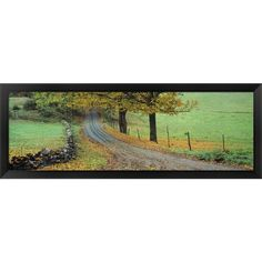 'Old King's Highway Woodstock Vermont' Framed Panoramic Photo