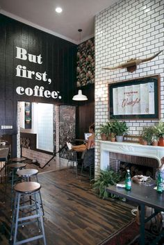 Shop house ideas thoughts · alfred coffee & kitchen in los angeles, ca small cafe, cafe interior design Coffee Theme Kitchen, Coffee Bars In Kitchen, Coffee Cafe, Coffee Mugs, Coffee House Decor, Coffee Shop Furniture, Coffee Percolator, Bakery Kitchen, Coffee Barista