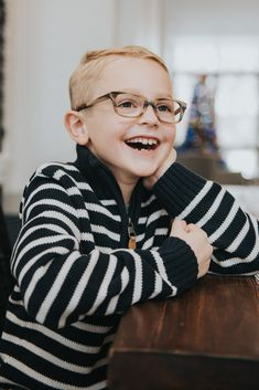 1d7c42763e01 Stylish striped glasses for kids. These brown prescription eyeglasses from Jonas  Paul Eyewear is our