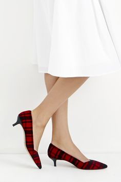 Darling tartan kitten heels by Sole Society