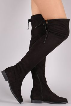 These over the knee boots feature a soft vegan suede, low block heel, round toe…