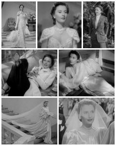 "Barbara Stanwyck's Edith Head-designed gowns for ""Eve"" in The Lady Eve (1941)"