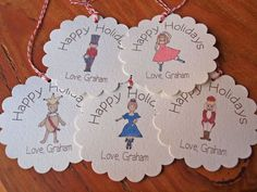 nutcracker ballet gift tags - cute idea for tagging gifts for fellow dancers