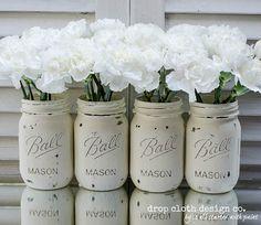 Annie Sloan Chalk Paint Mason Jars di dropclothdesignco su Etsy