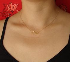 LOVE danity jewelry. Infinity Necklace in Gold Vermeil and Gold Filled by Popsicledrum