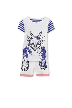 <p>Get ready for bedtime in these super cute short sleeve boys pajamas. These PJs feature lots of different cute prints, as well as an elastic waistband and rib cuffs.</p>  <p>• Snug Fit<br /> • Short sleeve<br /> • Prints will vary by style<br /> • Elastic waistband<br /> • Sold as a set</p>