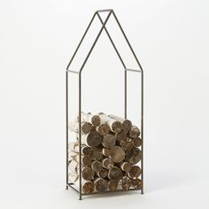 Iron Cabin Log Holder in House + Home Baskets + Utility at Terrain