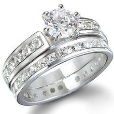 Chelsea's Round Cut Imitation Diamond Engagement Set