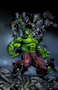 "Hulk vs The Darkness - ""Hulk SMASH pesty darklings!"""