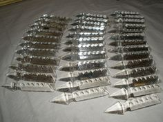 "Vintage set of 100 crystal Drop  glass Prisms 3 "" long for chandelier part"