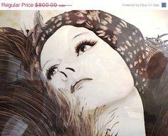 Super Sale Vintage 1970's Mod Pop Art Mirror, Retro Faux Flapper Girl, 1920's Style, Hollywood Regency, Classic 70's Glamour Girl