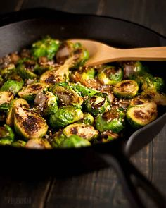 Caramelized Brussels Sprouts with Sesame Seeds | 32 Vegan Recipes That Are Perfect For Thanksgiving
