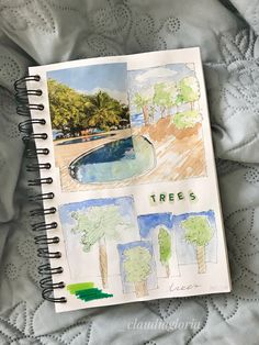 Art journal #trees #watercolor #collage green My Drawings, Collage, Trees, Journal, Watercolor, Art, Watercolor Painting, Journal Entries, Kunst