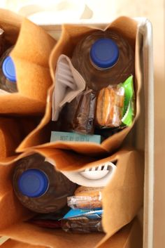 Barefeet In The Kitchen: Sack Lunches for the Homeless..CrackerPacks w/cheese&PeanutButter,Fruit or Applesauce cups,Vienna Sausages,Ready to eat Tuna Packs,Cereal Bar,Granola Bar,Dessert Snack,Bottled Water Napkin,Plastic Fork & Spoon.
