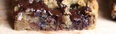 Sund, nem og proteinrig opskrift på Chocolate Chip Blondies - helt uden tilsat olie og raffineret sukker!