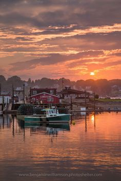 Summer Sunset Over Cook's Lobster Art Print by Benjamin Williamson. All prints are professionally printed, packaged, and shipped within 3 - 4 business days. Choose from multiple sizes and hundreds of frame and mat options. Lobster House, Lobster Art, Lobster Shack, Great Places, Beautiful Places, Places To Visit, Harpswell Maine, Maine New England, Acadia National Park