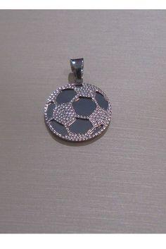 Ciondolo pallone da calcio Unisex in oro bianco 18 kt GioielliVarlotta