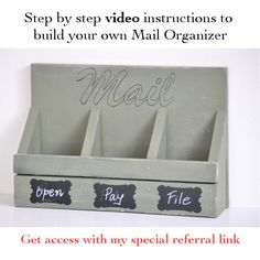 Make an easy DIY Mail Organizer without any major power tools. It is an easy beginner project and can be customized to any look and requirement!