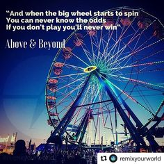 2 more sleeps! #Repost @remixyourworld with @get_repost  Go ahead risk it and have a blast while doing it. #remixyourworld #aboveandbeyond #lyricwisdom #dailymomentum Big Wheel, Go Ahead, Having A Blast, Above And Beyond, Follow Me On Instagram, Lyrics, Sleep, Quotes, Travel