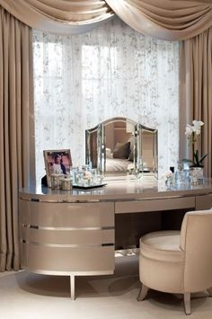 Dressing tables for a luxury bedroom decor – [pin_pinter_full_name] Dressing tables for a luxury bedroom decor dressing table, luxury dressing table, luxury bedroom, contemporary bedroom , ho… Luxury Home Decor, Luxury Interior, Decor Interior Design, Luxury Homes, Room Interior, Stylish Interior, Contemporary Bedroom, Modern Bedroom, Master Bedrooms