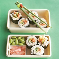 Veggie Sushi-because I can't have the raw stuff :(. add a lot of soy & pretend