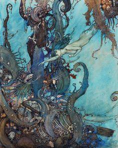 The Mermaid by Edmund Dulac.