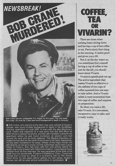 Bob Crane was a famous actor and star of Hogan's Heroes who was murdered. He was found bludgeoned to death in his apartment. Over 40 years later Bob Crane's murder remains unsolved. Movies Showing, Movies And Tv Shows, Hogans Heroes, Frappe Recipe, Old Commercials, Celebrity Deaths, Old Tv Shows, Vintage Tv, Famous Men