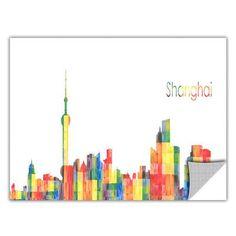 ArtWall ArtApeelz 'Shanghai' by Revolver Ocelot Graphic Art Removable Wall Decal