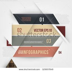 Modern abstract banner design for infographics, business design and website templates, cutout lines and numbers, retro colors. Esp 10 vector illustration by Ozerina Anna, via ShutterStock