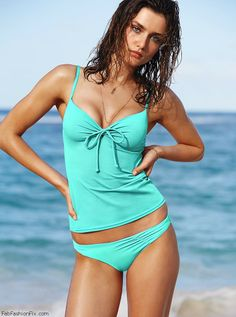 Andreea Diaconu for Victoria's Secret Swim 2014