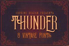 Thunder Typeface by Cruzine on @creativemarket