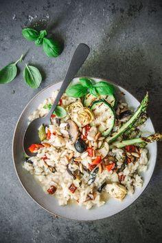 Antipasti Risotto mit gegrilltem Gemüse