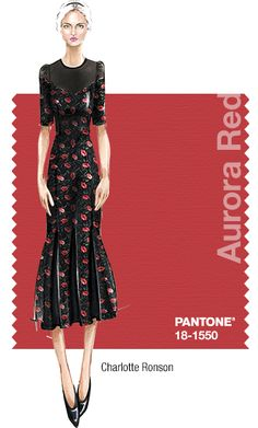 Pantone Fashion Color Report FALL 2014 PROMINENT COLORS Ribbon Red, Rumba Red, back to Jet Black INSPIRATION Baroque florals and the poppy flower SIGNATURE COLOR Ribbon Red is the fashion color we feel will be trending for fall 2014 and reflects our inspiration. MUST-HAVE ITEM FOR FALL 2014 Our poppy-printed velvet scallop dress