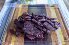 Smoked Beef Jerky - A Simple Smoked Jerky Recipe - Smoked Meat Sunday Smoker Beef Jerky, Smoker Jerky Recipes, Venison Jerky Recipe, Jerky Marinade, Pellet Grill Recipes, Barbecue Sauce Recipes, Grilling Recipes, Smoked Meat Recipes, Smoked Beef
