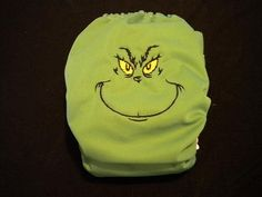 The Grinch embroidered cloth pocket diaper by nanapantsbybetsy, $17.00